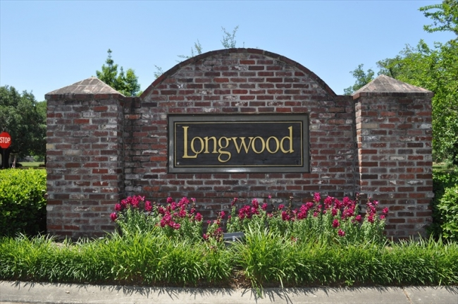 Longwood Neighborhood Entrance located Prairieville, LA